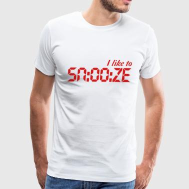 I like to snooze T-Shirts - Men's Premium T-Shirt