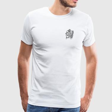 abstract ink stew - Men's Premium T-Shirt