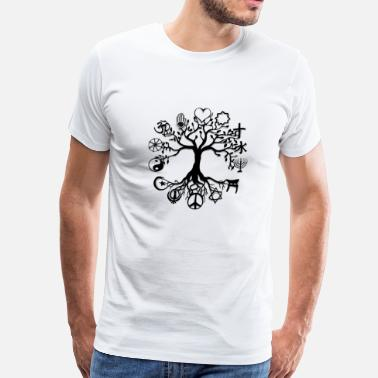 Plus Size Religion Tree of Life Peace - Men's Premium T-Shirt