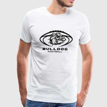 Bulldog Football New - Men's Premium T-Shirt