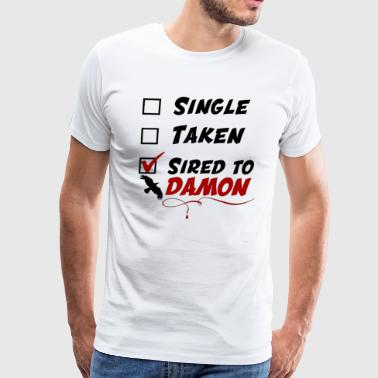 Damon Salvatore Tvd T shirt - Men's Premium T-Shirt