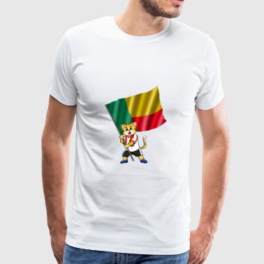 Benin Benin fan cat - Men's Premium T-Shirt