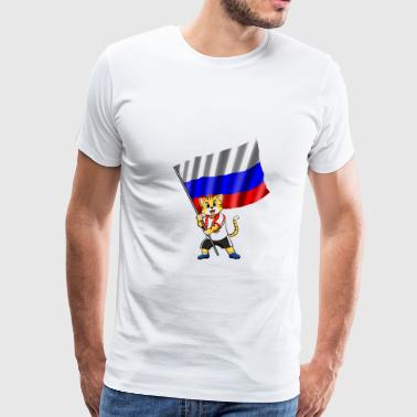 Russia fan cat - Men's Premium T-Shirt