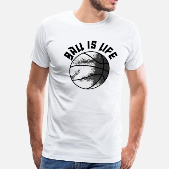 7935a3d1 Basketball T-Shirts - Ball is Life in Brooklyn - Men's Premium T-Shirt.  Customize