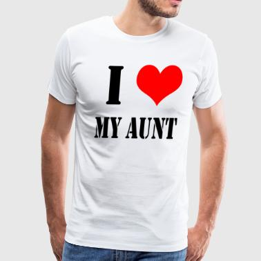 I Love My Aunt - Men's Premium T-Shirt