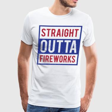 Pyro Straight Outta Fireworks 4th of July - Men's Premium T-Shirt