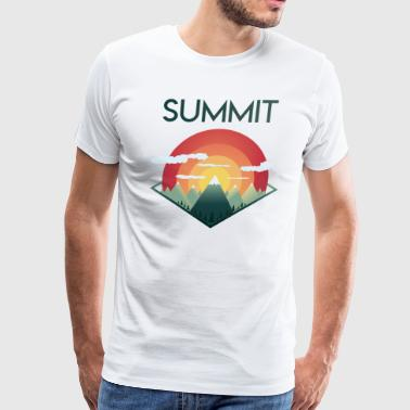 Summit Mountains - Men's Premium T-Shirt