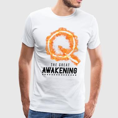 QAnon T Shirt Storm The Great Awakening WWG1WGA Light - Men's Premium T-Shirt