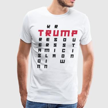 Impeach Putin Anti Trump Art | Impeach President | Resist Putin Light - Men's Premium T-Shirt