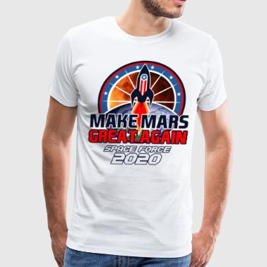 US Space Force New Military Branch Rocket to Mars Light - Men's Premium T-Shirt