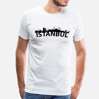 Istanbul Turkey Arc Skyline Of Istanbul Turkey - Men's Premium T-Shirt