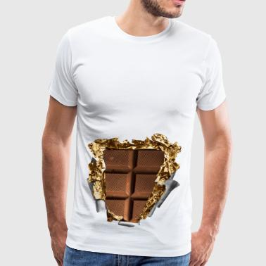 six pack chocolate bar - Men's Premium T-Shirt
