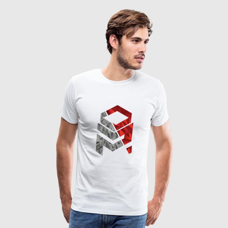 OptiMystic (White) - Grey&Red - T-Shirt - Men's Premium T-Shirt
