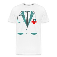 Funny Halloween Doctor Nurse Costume Men Women Kid - Menu0027s Premium T-Shirt  sc 1 st  Spreadshirt & Funny Halloween Doctor Nurse Costume Men Women Kid by pixelbrother ...