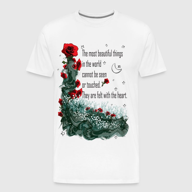 Felt with the heart - Men's Premium T-Shirt