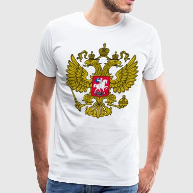 Gerb Gold Coat of Arms of Russia Россия Eagle - Men's Premium T-Shirt