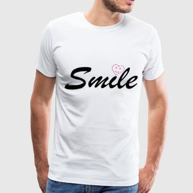 Smile Heart Love Smiley - Men's Premium T-Shirt