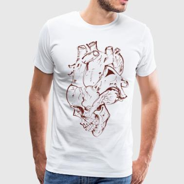 Skull Heart - Men's Premium T-Shirt