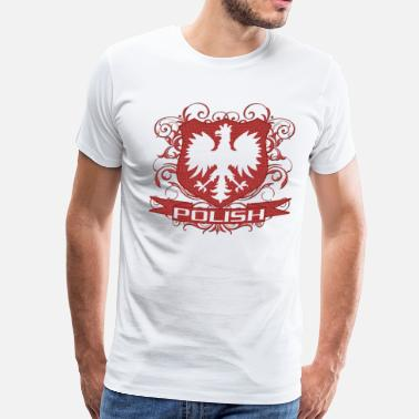 Polska Polish Eagle Crest  - Men's Premium T-Shirt