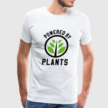 Powered By Plants - Vegan Fitness Sports Gift - Men's Premium T-Shirt