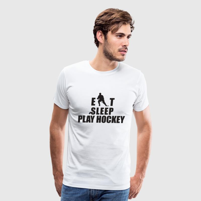 Eat Sleep Hockey - Men's Premium T-Shirt