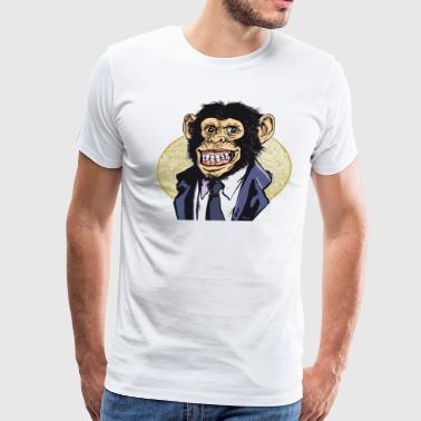 Chimp Suit Tie - Men's Premium T-Shirt