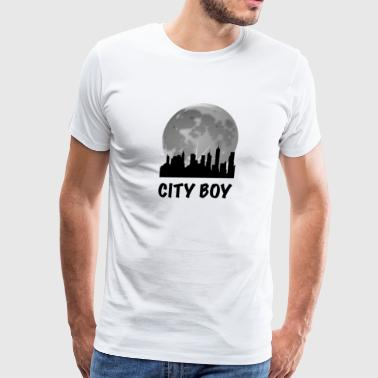 Cosmopolitan City City Boy Skyline - Men's Premium T-Shirt