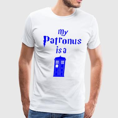 my patronus is a tardis - Men's Premium T-Shirt