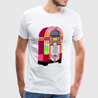 Fun Neon Jukebox - Men's Premium T-Shirt