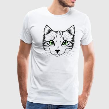 Cute Cat Face - Men's Premium T-Shirt