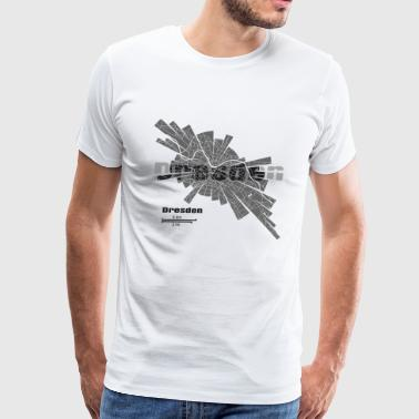 Dresden Map - Men's Premium T-Shirt