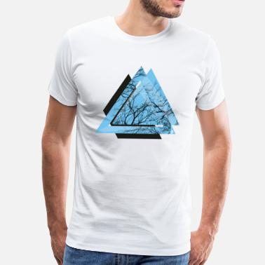 Hipster AD triangle black - Men's Premium T-Shirt