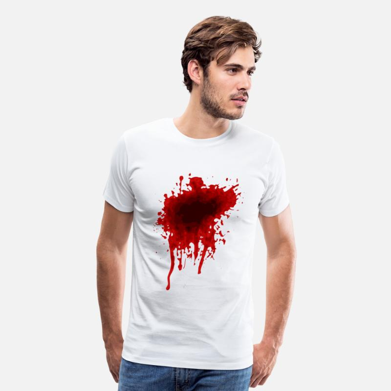 Blood T-Shirts - Blood Stain - Men's Premium T-Shirt white
