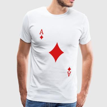 Ace Playing Card - Men's Premium T-Shirt