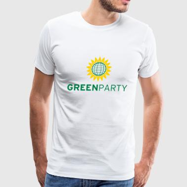 Green Party Sunflower Globe - Men's Premium T-Shirt