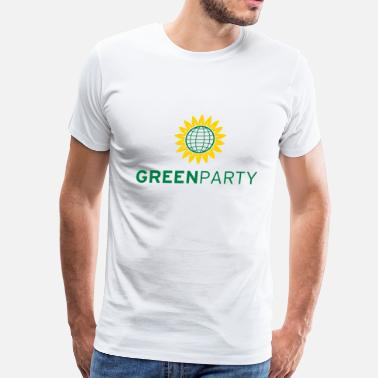 Green Party Logo Green Party Sunflower Globe - Men's Premium T-Shirt