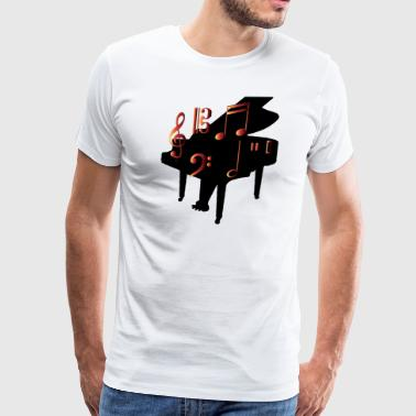Funny Piano Piano and Notes - Men's Premium T-Shirt