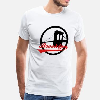 Bridge Vector Brooklyn Bridge - Men's Premium T-Shirt