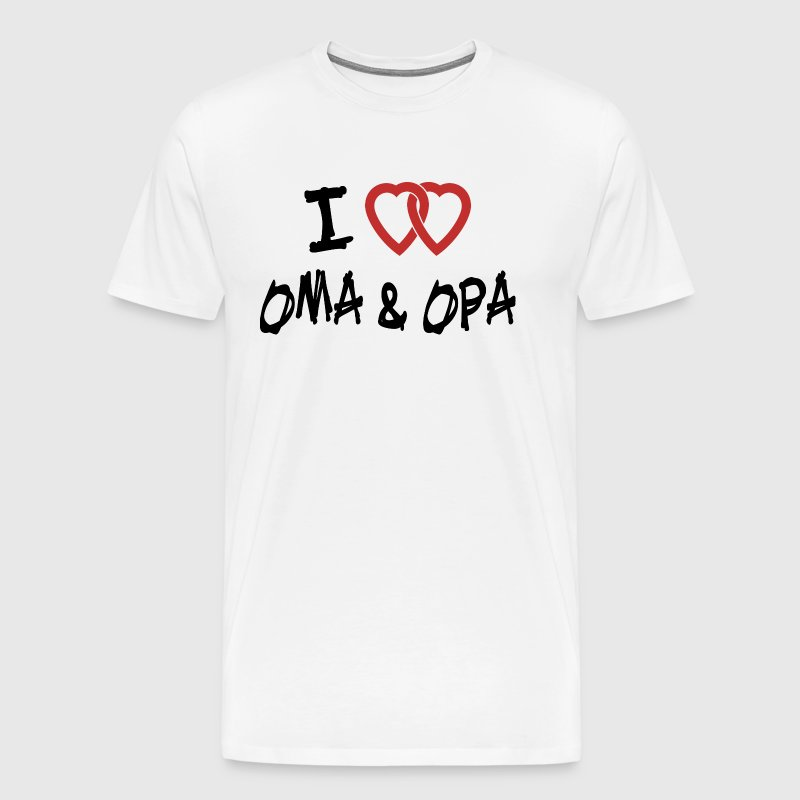 I Love Oma & Opa - Men's Premium T-Shirt