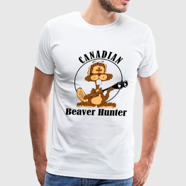 Canadian Beaver Hunter - Men's Premium T-Shirt