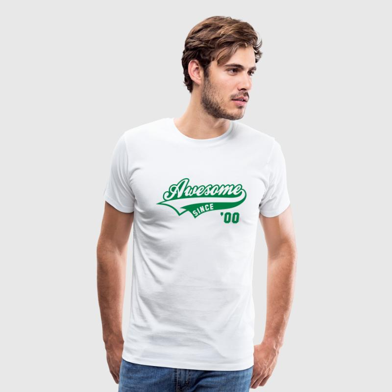 Awesome SINCE 2000 - Birthday Anniversaire - Men's Premium T-Shirt