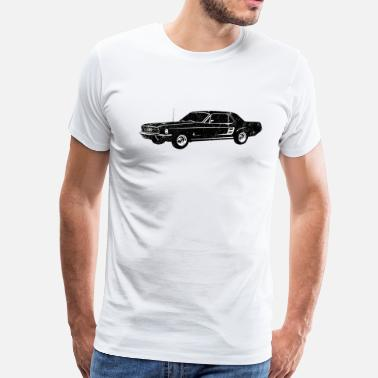 1967 Mustang 1967 Ford Mustang Coupe - Men's Premium T-Shirt
