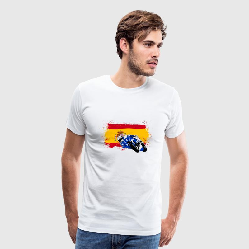 MotoGP - Superbike - Spain Flag - Men's Premium T-Shirt