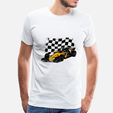 Formula Formula One - Formula 1 - Racing Flag - Men's Premium T-Shirt