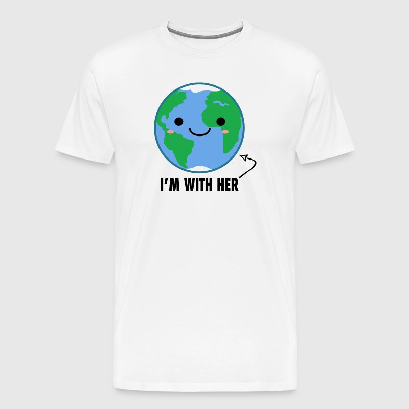 I'm With Her - Planet Earth Day - Men's Premium T-Shirt