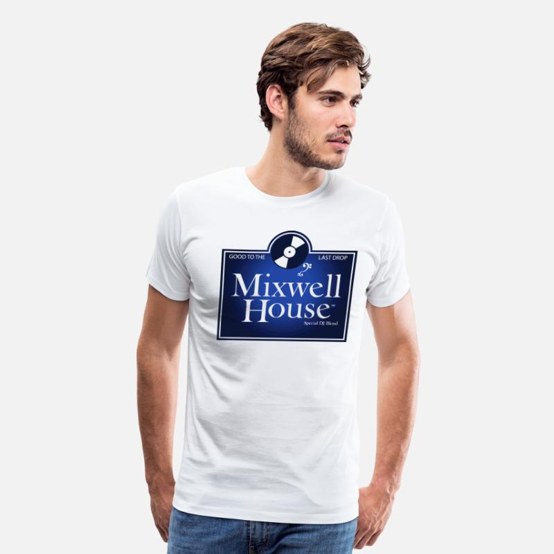 Dj T-Shirts - Mixwell House Men's Tee - Men's Premium T-Shirt white