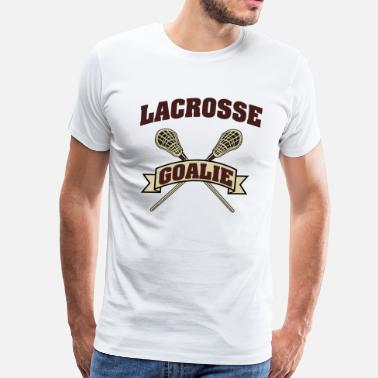 Lacrosse Goalie Dad Lacrosse Goalie - Men's Premium T-Shirt