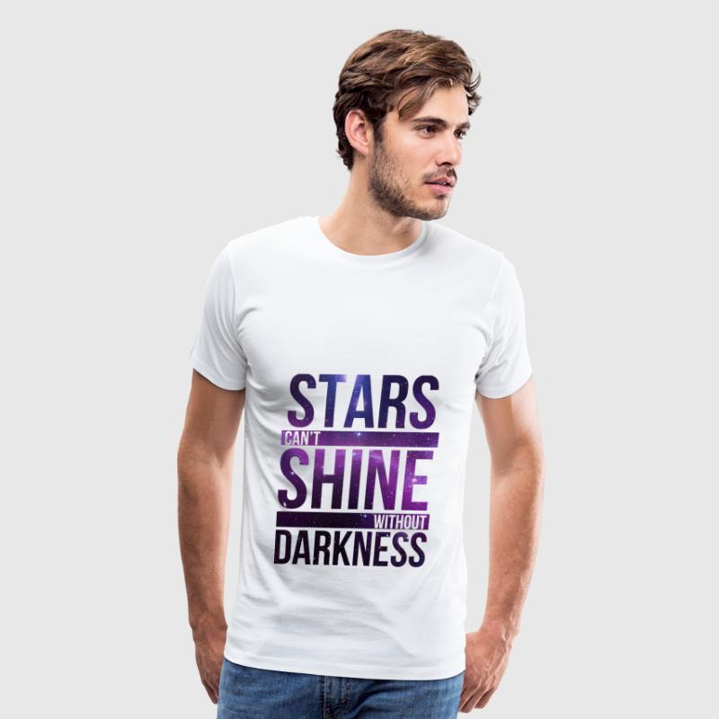 STARS CAN'T SHINE WITHOUT DARKNESS Purple Galaxy - Men's Premium T-Shirt