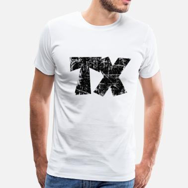 Tejano TX Texas Design Vintage Black - Men's Premium T-Shirt