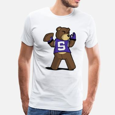 Teddy Football Teddy B - Men's Premium T-Shirt